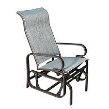 Gray Rocking Chair Sunlife Outdoor Garden Rocking Chair Steel Frame Patio Rocker