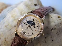 vintage gal vintage timex moon sun phase wrist