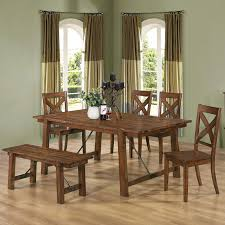 Rustic Kitchen Table Sets Kitchen Rustic Kitchen Tables With Bench Four Chair Using Cross