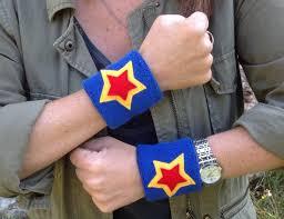 one pair 3 super hero sweatbands superhero wristbands