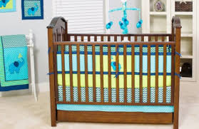 Infant Crib Bedding Pam Grace Creations Zigzag 10 Baby Crib Bedding Set Teal