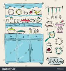 design kitchen set kitchen set vector design elements kitchen stock vector 210459319