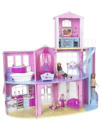 excellent barbie dream house bedroom with blue 10093