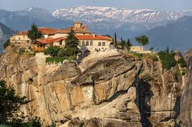 Meteora Greece Map by Monastery Of Agia Trias Holy Trinity At Meteora Gtp
