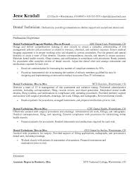Sample Resume For Medical Laboratory Technician by Resume Orthodontist Examples Template Orthodontic Throughout 19