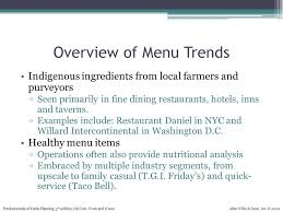 chapter 1 new trends in the foodservice industry ppt video