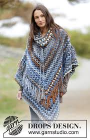 drops design poncho gaucho drops 166 35 free crochet patterns by drops design
