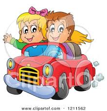 cartoon convertible car cartoon of a happy boy and driving in a red convertible car