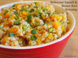 butternut squash and brown rice dressing recipe culicurious