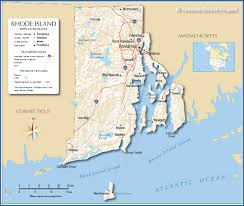 Map Of States With Capitals by Reference Map Of Rhode Island Usa Nations Online Project