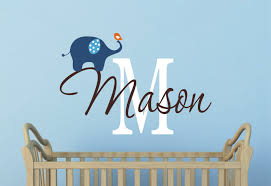 Boy Nursery Wall Decal Elephant Wall Decal Nursery Wall Decal Boys Decal With