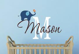 Boy Nursery Wall Decals Elephant Wall Decal Nursery Wall Decal Boys Decal With