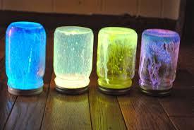 Halloween Glow Jars halloween toilet roll glowing eyes and slime glow jar decorations