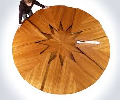 expandable round dining table fletcher capstan world39s coolest expandable table expandable