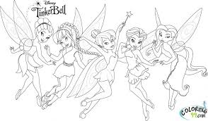 tinkerbell friends coloring free download