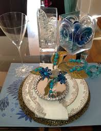 Black Blue And Silver Table Settings Diy Tanarievents