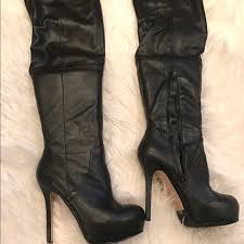 s boots aldo 29 aldo shoes black faux leather the knee boots aldo