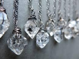 crystal diamond necklace images Raw crystal necklace raw herkimer diamond necklace crystal etsy jpg