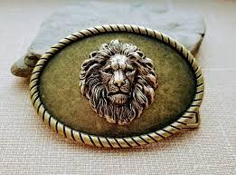urban lion ring holder images Handmade oxidized brass steampunk lion belt buckle urban metal jpg