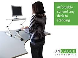 uncaged ergonomics wesdbfan workez standing desk conversion kit