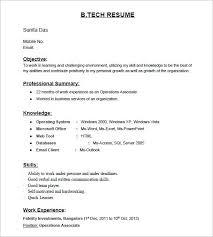 resume exles for any resume cv exles freshers exle template