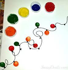 fingerprint christmas light craft for kids diy card lights loversiq