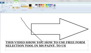 use of free form selection tool in ms paint youtube