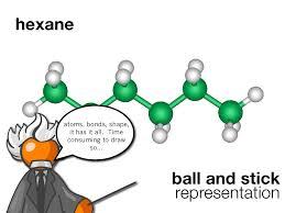 hexane atoms bonds shape it