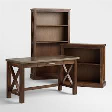 Wooden Desk With Shelves Home Office Furniture Desks U0026 Chairs World Market
