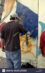 Mural Artist by Ny Grafitti Graffiti Mural Artist Vertical Stock Photo Royalty