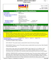 Ghs Safety Data Sheet Template Mirs M Sds Software Sle Screens