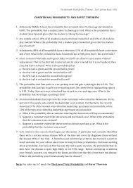 conditional probability worksheets free worksheets library