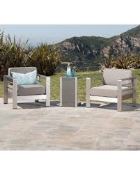 Outdoor Furniture 3 Piece by Spectacular Deal On Cape Coral Outdoor 3 Piece Aluminum Seating
