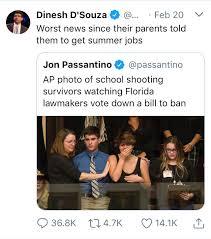 Highschool Memes - dinesh d souza s response marjory stoneman douglas high school