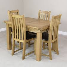 extending dining table with chairs colorado 60cm 120cm set faux