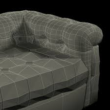 Leather Sofa Tufted by Edward Wormley Dunbar Six Foot Tufted Leather Sofa 3d Model Max