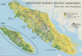 Map Of Bc Cathedral Grove British Columbia Linking Two Biospheres