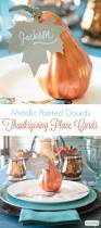 thanksgiving table name cards painted gourd thanksgiving place cards atta says