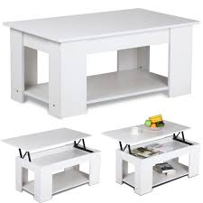 Coffee Table With Lift Top And Storage Amazon Com Yaheetech Lift Top Coffee Table White Kitchen U0026 Dining