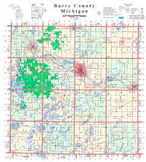 Detailed Map Of Michigan Barry County Map Barry County Road Commission