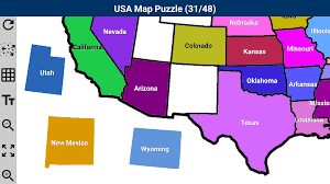 Colorado Usa Map by Usa Map Puzzle Android Apps On Google Play
