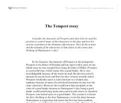 the tempest prospero character analysis how do his actions and