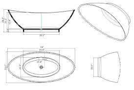 bathroom winsome standard dimension of bathtub 57 freestanding