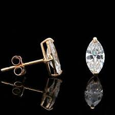 heavy diamond earrings marquise diamond earrings ebay