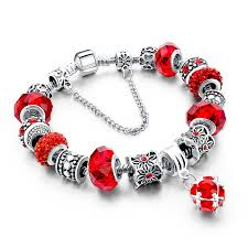 bracelet styles with beads images Murano glass beads crystal 925 silver charm bracelets fun jpg
