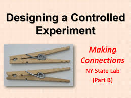 making connections designing a controlled experiment procedure