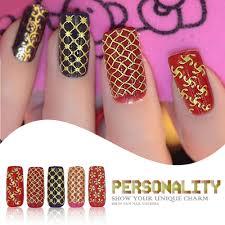 aliexpress com buy 3d design fashion nail art gold metallic