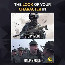 Games Memes - the look of your character in story mode online mode gaming memes
