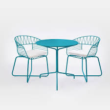 Miami Bistro Chair Soleil Metal Outdoor Bistro Dining Set Table 2 Chairs West Elm
