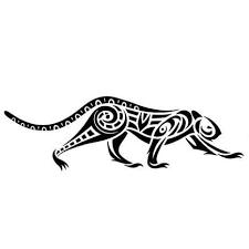 tribal jaguar on the prowl tattoo design tattoowoo com